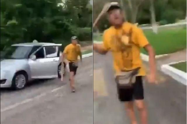 Italiano ataca con bat a mexicana por pedirle que recogiera su basura