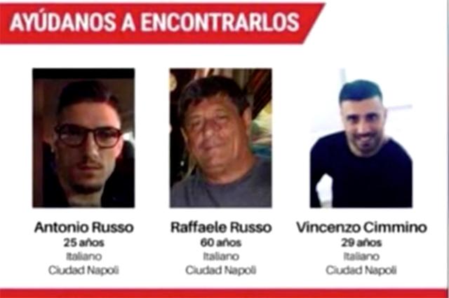 Italia urge a México a resolver el caso de los 3 italianos desaparecidos