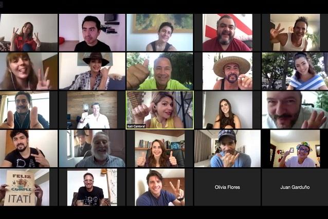 Itatí Cantoral celebra cumpleaños rodeada de artistas con fiesta virtual