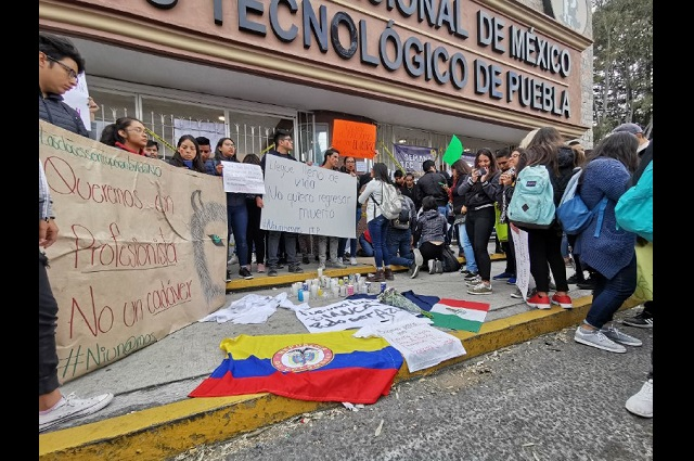 Estudiantes de ITP y UTP se suman a paros en Puebla