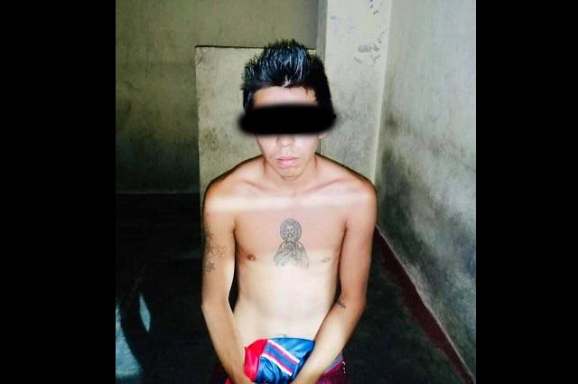 Detienen a hombre en Izúcar por  posesión de marihuana