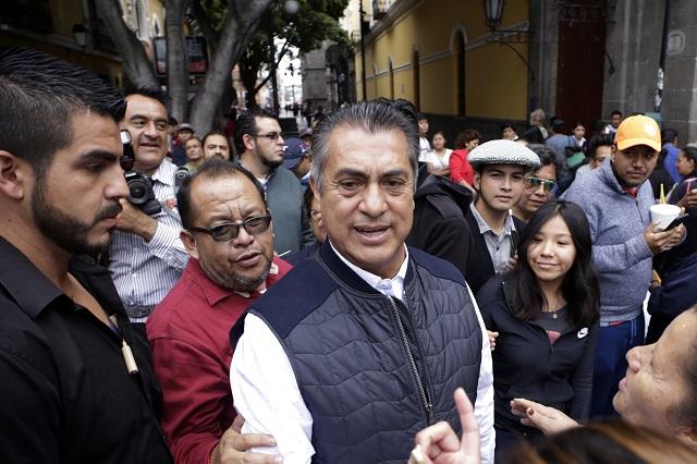 Llama el Bronco a no votar por gobernador en Puebla, como castigo