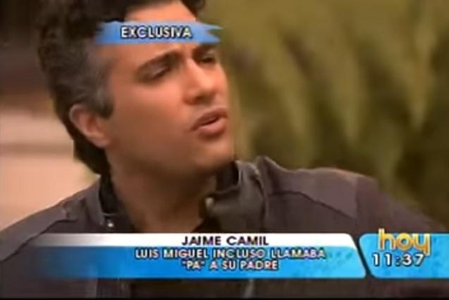 ¿Por qué se distanció Luis Miguel de Jaime Camil y su familia?