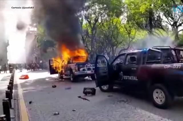 Desmanes en marcha por Giovanni en Guadalajara; culpan a la 4T
