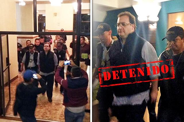 Detienen en Guatemala al exgobernador Javier Duarte