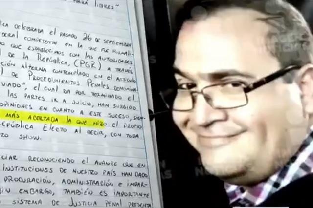 Javier Duarte dice que AMLO tuvo razón al calificar su caso de puro circo