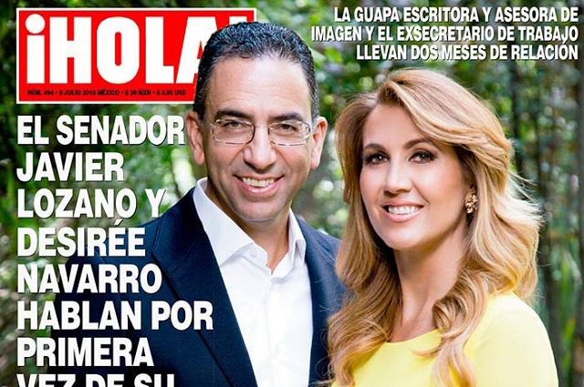 Critican a Javier Lozano Alarcón por aparecer en revista Hola