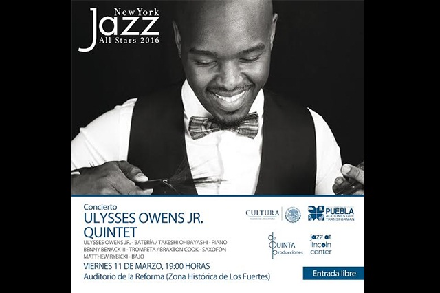 Puebla recibe por tercer año a New York jazz all stars 2016