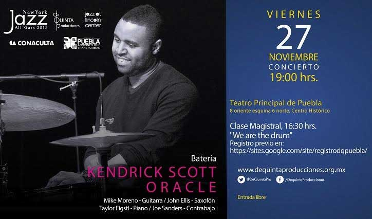 Culmina el New York Jazz All-Stars con clase magistral con Kendrick Scott