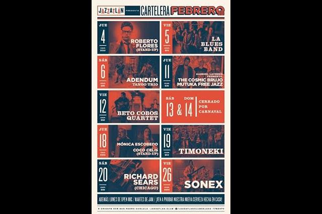 Jazzatlán presenta cartelera para febrero