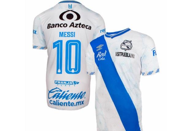 ¿Messi al Puebla? La Franja ya vende su jersey