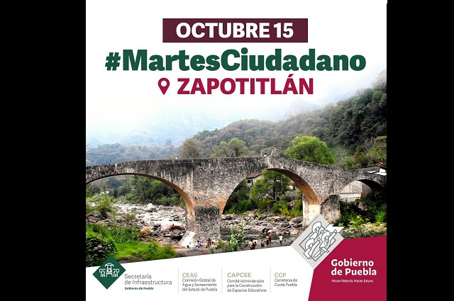 Anuncian Jornada Ciudadana en Zapotitlán de Méndez, Puebla