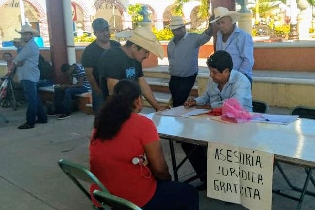 Llevan Jornadas Jurídicas a comunidades de la Mixteca poblana