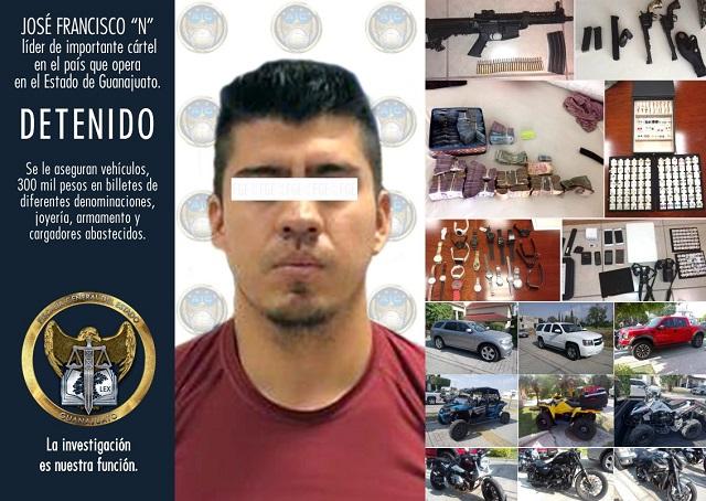 Detienen a líder de cártel que opera en Guanajuato