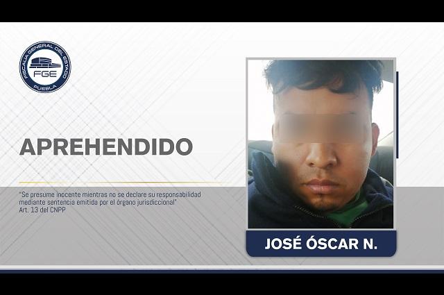 FGE aprehendió a extorsionador en Puebla; víctima lo denunció