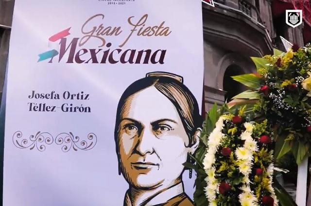 Puebla realiza ceremonia en honor a Josefa Ortiz