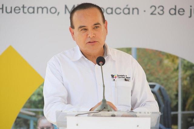 Se desploma helicóptero y muere secretario de Seguridad de Michoacán