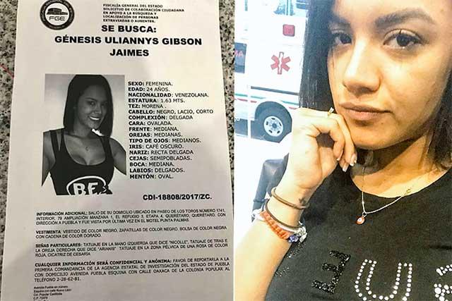 Encuentran muerta a modelo Venezuela que fue reportada como desaparecida en Puebla
