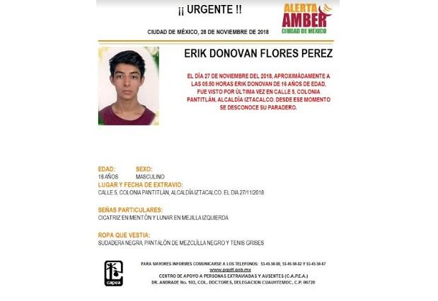 Confirman muerte del Erik Donovan, alumno de la Prepa 9 UNAM