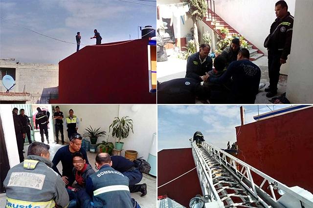 Bomberos evitaron que un hombre se lanzara desde una azotea