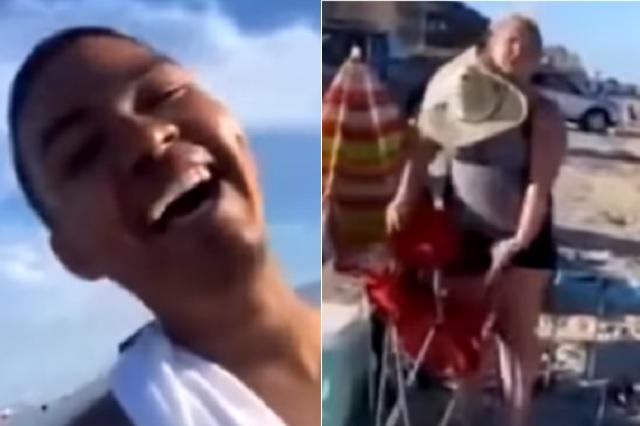 Responde con frases mexicanas a mujer racista que intentó correrlo de playa
