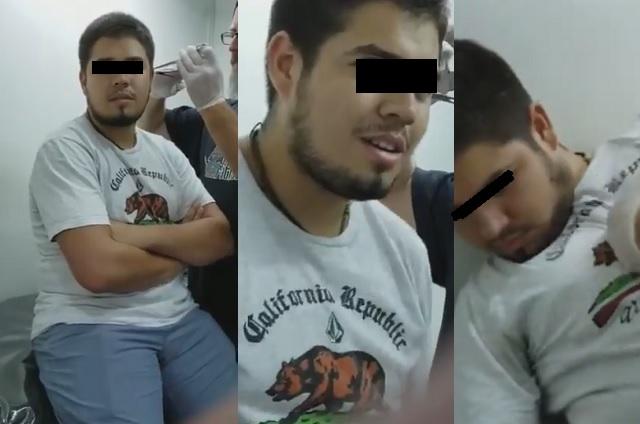 Video: Joven se desmaya mientras le ponen un piercing en la oreja