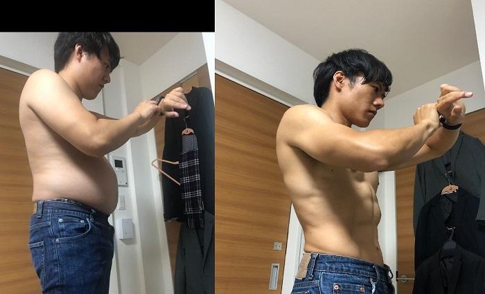 Joven japonés reveló cómo eliminó sobrepeso y luce abdomen espectacular