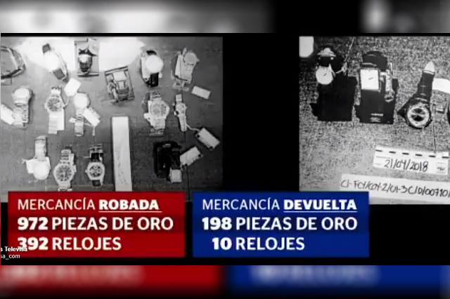 Investigan a servidores públicos por robo de alhajas y relojes