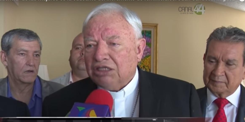 Obispo atribuye aumento de feminicidios a imprudencia de las mujeres