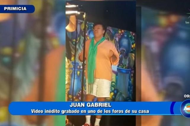 Difunden video inédito de Juan Gabriel que grabó ¿su ex novio?