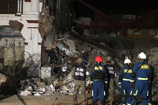 Ejército remueve escombros para comenzar a reconstruir Juchitán