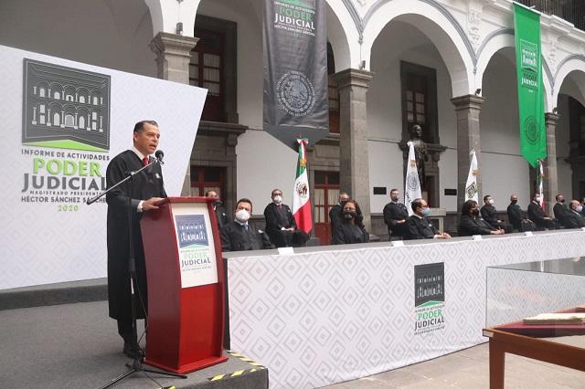 Tiene Puebla un Poder Judicial sólido y transparente: presidente
