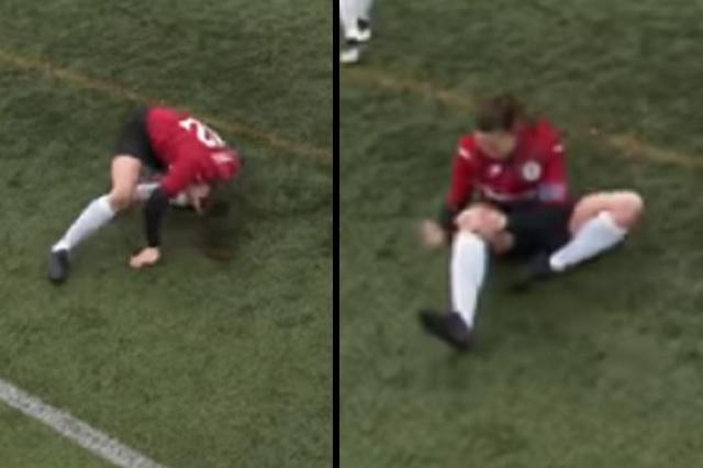 Video: Jugadora se disloca la rodilla durante partido y la acomoda al instante