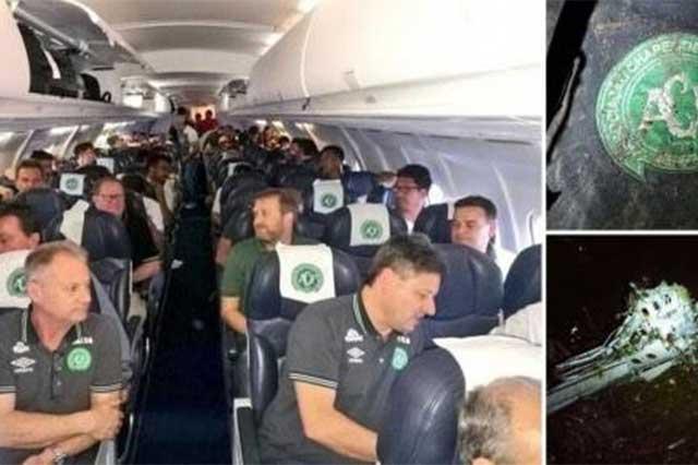 Caída de avión en Colombia causó la muerte de 22 futbolistas y 22 periodistas