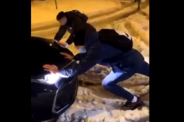 Fuerte nevada en España deja varados a jugadores del Getafe: Video