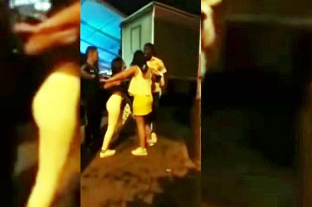 VIDEO: Jugador de futbol pelea y le escupe a su novia
