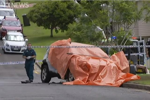 Exjugador de rugby muere con su esposa e hijos: dicen que incendió auto y se suicidó