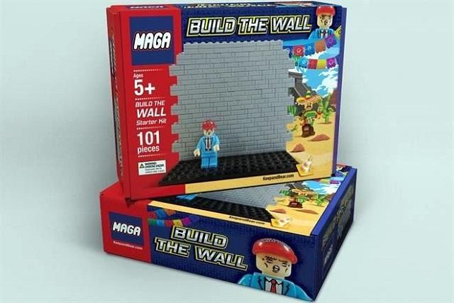 Lanzan juguete para construir el muro fronterizo de Trump