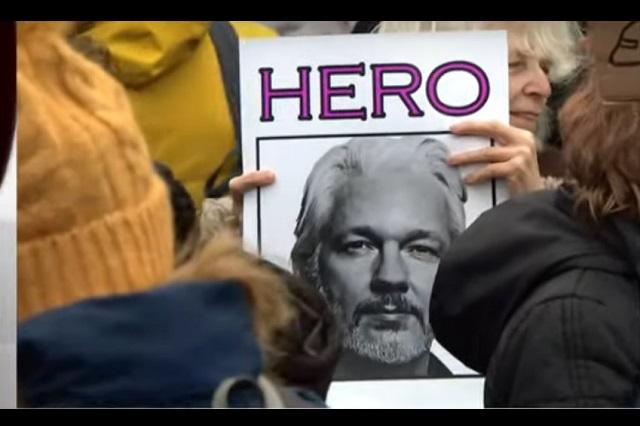 Marchan miles en Londres para impedir extradición de Julian Assange