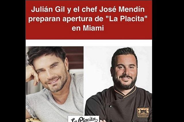 Julián Gil abrirá restaurante en Miami