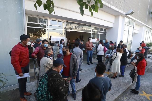 Junta Local de Puebla trabaja sin gel ni cubrebocas, acusa personal