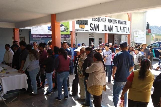 Saldo blanco en plebiscito en San Pedro Cholula