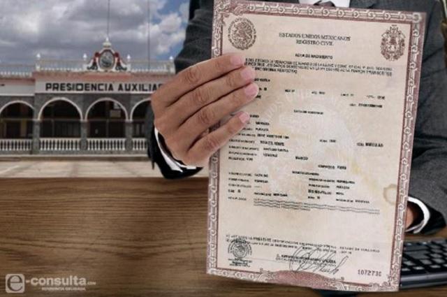 Congreso devuelve a las Juntas Auxiliares control del Registro Civil