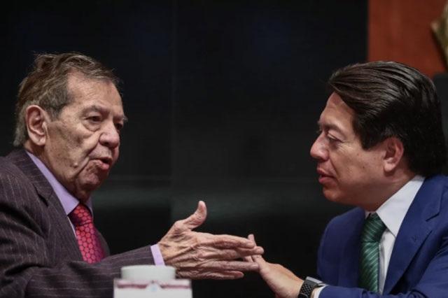 Muñoz Ledo y Mario Delgado van a desempate por dirigencia de Morena