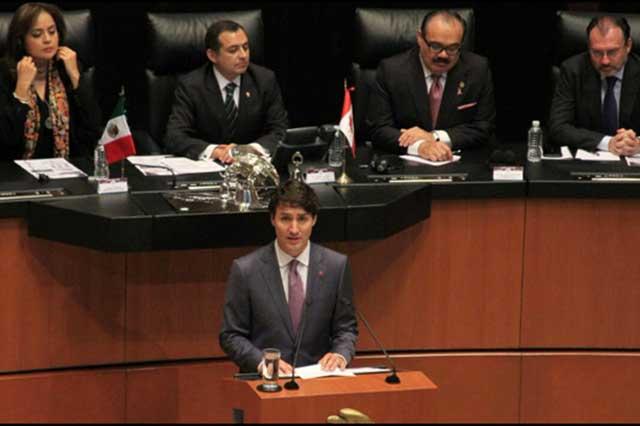Trudeau pide en el Senado mejores empleos para la clase media y las mujeres