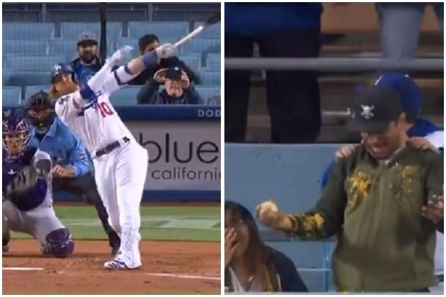 Dodgers: Jonrón de Justin Turner arruina la comida de un fanático
