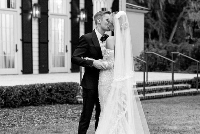 Hailey Baldwin muestra vestido de novia con el que se casó con Justin Bieber