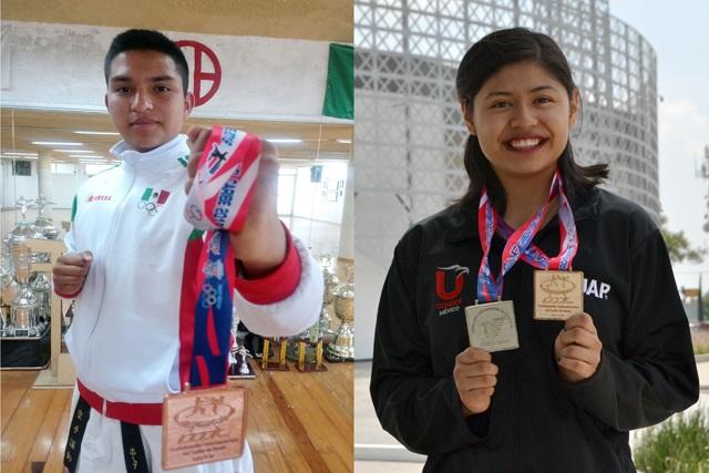 Estudiantes BUAP obtienen medallas en Centroamericano de Karate