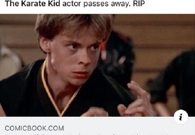Muere Robert Garrison, actor de Karate Kid y Cobra Kai