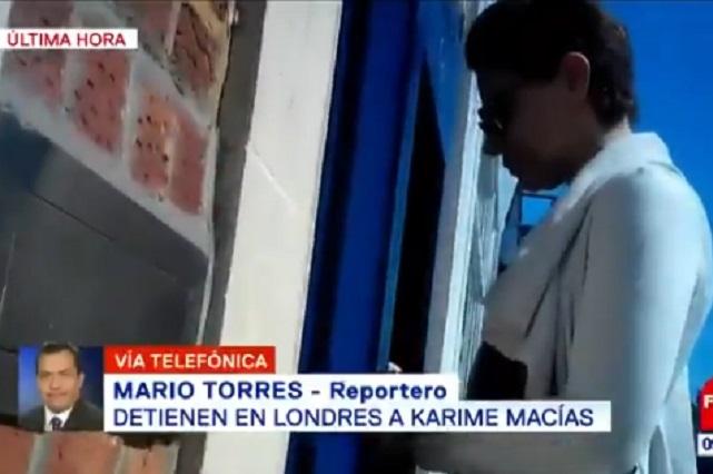 Detienen a Karime Macías esposa de Javier Duarte en Reino Unido